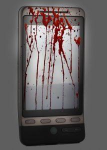 celular con sangre